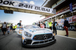 Customer Racing: Saisonauftakt 2020: Mercedes-AMG Motorsport startete mit neuem GT3-Fahrzeug in die Jubiläumssaison Foto: Der Mercedes-AMG GT4 #488 von Dragon Racing beim 24H Dubai 2019