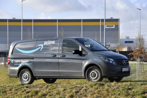 Zuverlässig zugestellt: Mercedes-Benz eVito fahren lokal emissionsfrei für Amazon in München