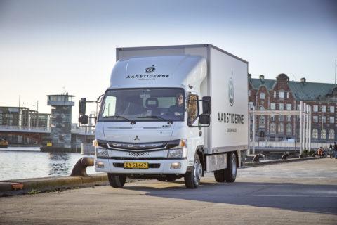 Jetzt auch in Dänemark: Der vollelektrische FUSO eCanter