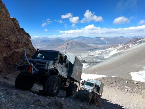 High Altitude Truck Expedition 2019: Zwei Unimogs fahren in Chile auf 6.694 Meter - Höhen-Weltrekord