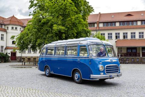 Jubiläum: 65 Jahre Setra Clubbusse Foto: Ein Setra S 6 (1955)