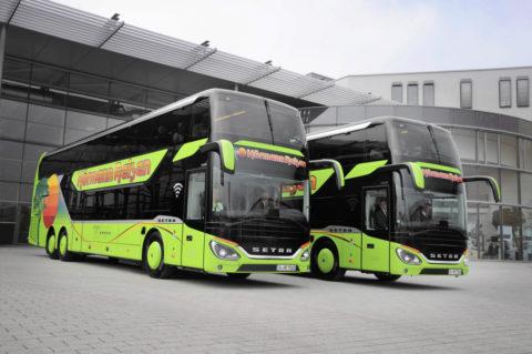 Zwei neue Setra 5-Sterne-Doppelstockbusse bei Hörmann-Reisen im Einsatz