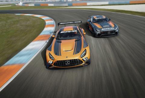 Jubiläum: Zehn Jahre Mercedes-AMG Customer Racing - GT-Erfolge made in Affalterbach Foto: Der neue Mercedes-AMG GT3 und der Mercedes-AMG GT4