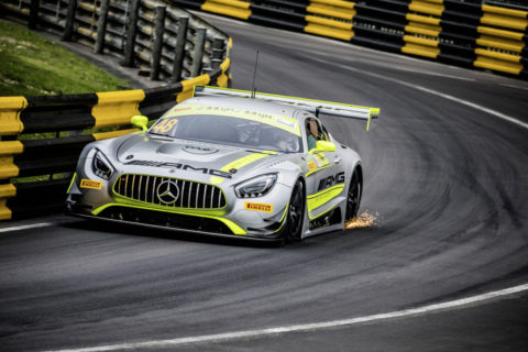 Jubiläum: Zehn Jahre Mercedes-AMG Customer Racing - GT-Erfolge made in Affalterbach Foto: Sieger FIA GT World Cup Macau 2017, Edoardo Mortara, Merce des-AMG GT3