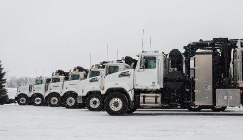 Daimler Trucks lieferte 200.000sten Western Star aus Foto: Die Western Star Lkw Flotte von Joe Johnson Equipment