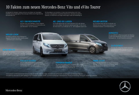 Vorstellung: Der neue Mercedes-Benz Vito und eVito Tourer - Attraktives Upgrade für den Transporter mit Stern