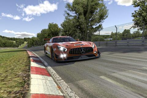 Der Mercedes-AMG GT3 startet virtuell weiter durch