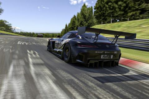 Der Mercedes-AMG GT3 startet virtuell weiter durch Foto: RacingFuel Academy & Friends, Mercedes-AMG GT3 #154, Digitale Nürburgring Langstrecken-Serie