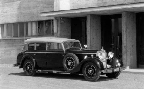 """Rollende Pracht: Der Repräsentationswagen Typ """"Großer Mercedes""""Foto: Cabriolet F aus dem Jahr 1935"""