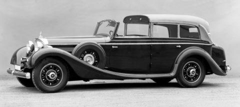 """Rollende Pracht: Der Repräsentationswagen Typ """"Großer Mercedes""""Foto: Cabriolet F in der Dach-Variation als Pullman-Stadtcoupé"""