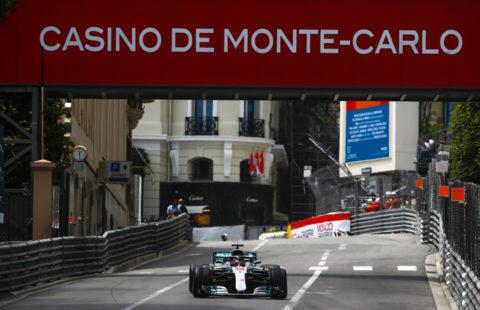 Zufahrt zum Casino: Großer Preis von Monaco 2018, Lewis Hamilton